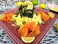 tagliatelle au citron et au saumon