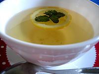 infusion de thé à la menthe
