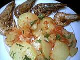 Image : Salade tiède de gambas à la cancoillotte
