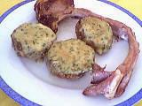 farcis : Assiette de champignons farcis