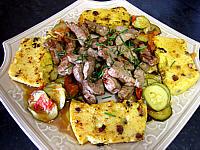 polenta : Plat de polenta et foie de veau