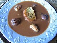 Image : recette Soupe de poisson aux châtaignes