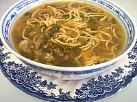 Soupe de boeuf et nouilles façon chinoise