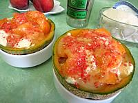 melon glacé à la liqueur de Chartreuse