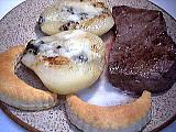 Tournedos aux poires et Roquefort