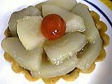 fruits chocolat : Tartelette aux poires rapides