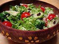 salade de batavia, de riz, de brocolis