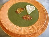 Recette Assiette de velouté d'épinards et lotte