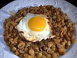 Recette Assiette de lentilles aux oignons