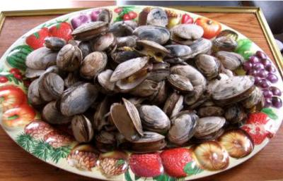 Image : Coquillages - Assiette de coquillages clams
