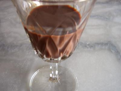 Photo : Liqueur de chocolat