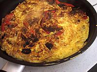 Image : recette Omelette aux oignons et au poivron