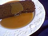 Recette Tranche de gâteau au chocolat et aux amandes