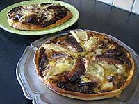 Image : Pizzas au magret et coeurs de canard