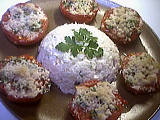 recettes farcies : Plat de tomates aux noisettes