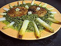 thon rouge : Assiette de thon aux épinards