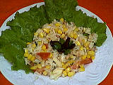 Recette Assiette de salade de riz au thon