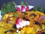 Omelette aux feuilles de radis