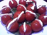 Tomates cerises à la mozarella