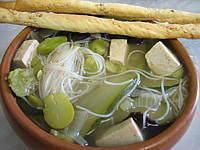 tofu ferme : Bol de soupe chinoise au tofu