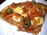 pizza à l'aubergine