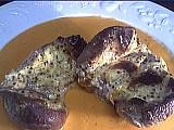 Rognons de porc au coulis de poivrons