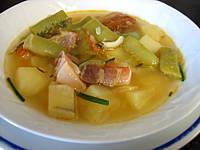 soupe au lard et patates douces