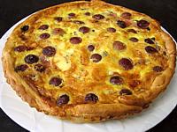 Recette Assiette de tarte au jambon à la fourme d'Ambert