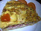 Image : recette Omelette farcie au crabe