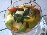 Image : Coupe de salade de fruits au génépi
