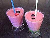 Recettes rapides : Verre de yaourts glacés aux fruits rouges