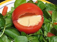 recettes avec garniture : Tomates farcies et sauce aux haricots secs