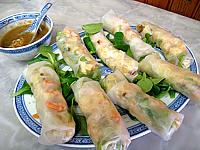 vermicelle de riz : Assiette de rouleaux de printemps