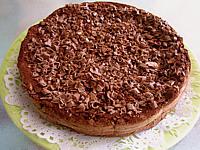 gâteau au chocolat et son coulis