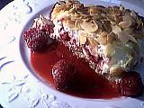 Tiramisu : Assiette de tiramisu aux framboises