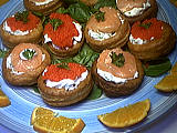 vol au vent au saumon