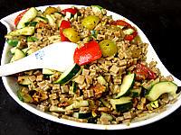 crozets : Salade végétarienne aux crozets et aux mirabelles