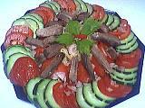 Langue de boeuf : Assiette de langue en salade