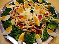 entrée à base de pâtes : Salade de pâtes aux brocolis