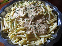 macaroni sauce aux noisettes