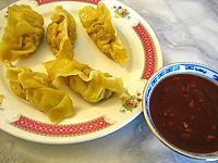 Pâte à wontons : Assiette de raviolis chinois