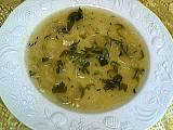 soupe de pâtes : Assiette de vermicelles aux fines herbes