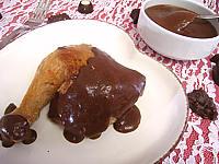Recette Cuisse de poulet et sa sauce au chocolat