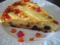 Image : Gâteau - Gâteau au fromage blanc et fruits confits