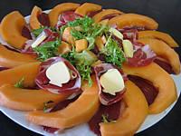 Melon et jambon