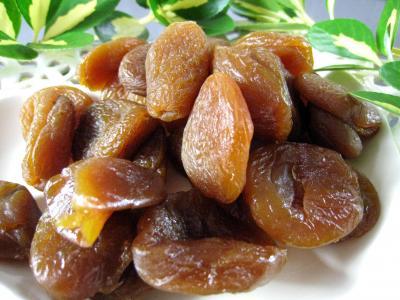Photo : Assiette d'abricots secs