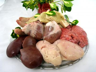 Image : Abats - Les abats de ris de veau, foie, queue