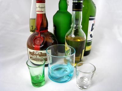 Photo : Choix de bouteilles d'alcool