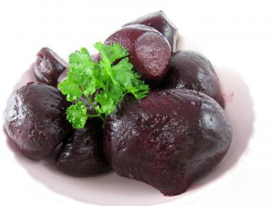 Photo : Assiette de betteraves rouges