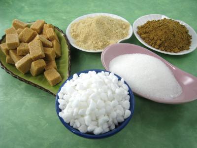 Image : Sucre et variétés - Différents sucres